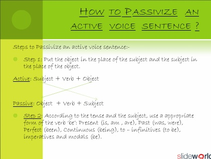 Active Voice and Passive voice