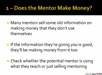 An Intenret Marketing Mentor Definition and 4 Tips for Finding a Good Mentor