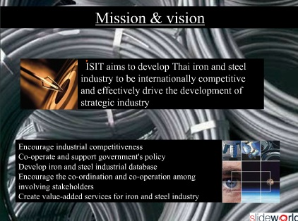 Mission and vision of Steel Industry