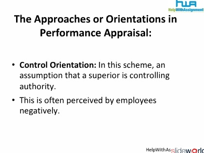 Performance Appraisal in Human Resource Management from HelpWithAssignment.com 