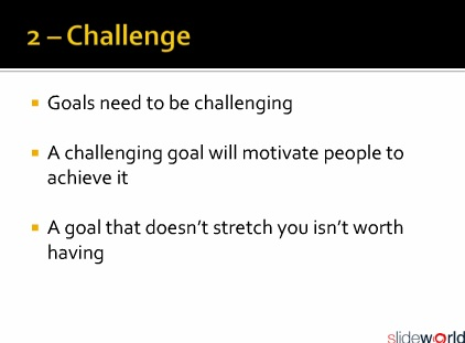 Five Attributes for Goal Setting