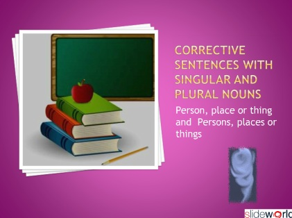 Corrective Sentences with singular and plural
