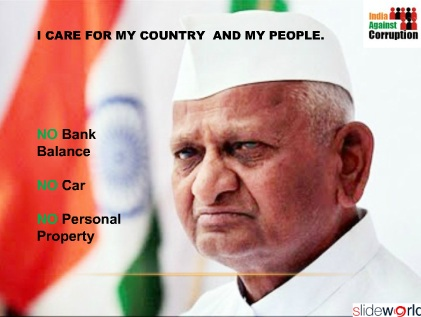 Anna hazare anti corruption  Anna hazare movement  PPT on Anna Hazare mission