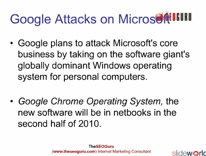 Google and Microsoft OS
