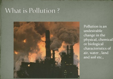 pollution  their impact
