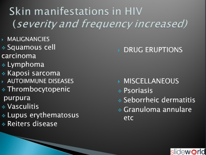 cutaneous manifestations of hiv/aids