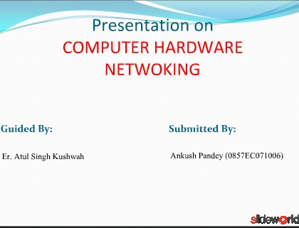 PPT on networking