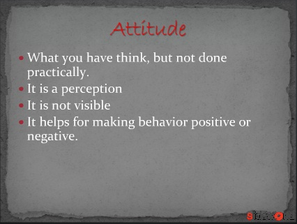 attitude and job satisfaction