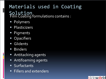 Coating Of Tablets