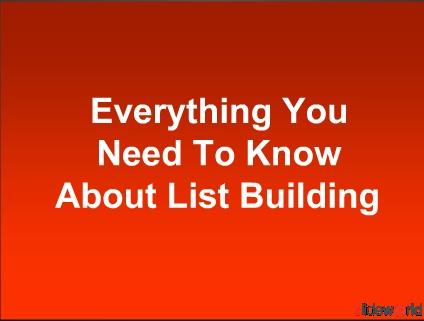 List Building Email Marketing Cash On Demand