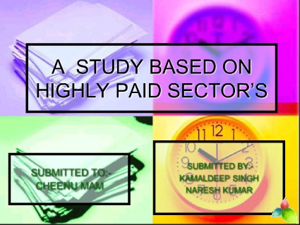 highly paid sector