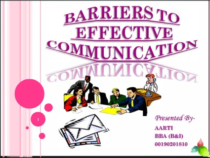 barrier to effective communication