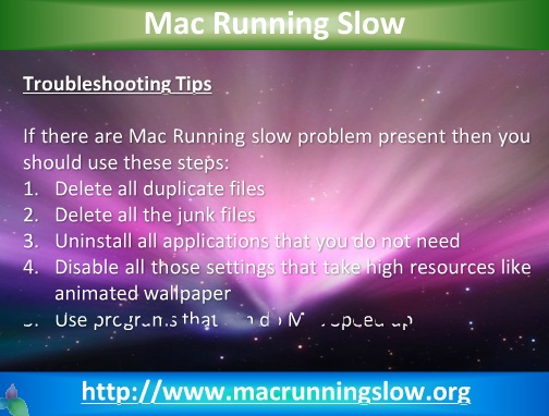 Mac Running Slow - Speed Up Mac in Few Minutes only