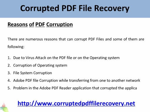 Corrupted PDF File Recovery - The Perfect Way!