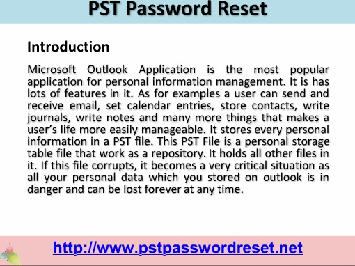 PST Password Reset - Get Access to PST without any risk!