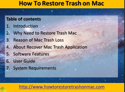 How To Restore Trash on Mac