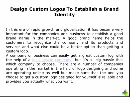 Design Custom Logos To Establish a Brand Identity
