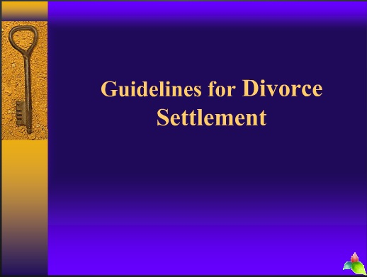 guidelines for divorce settlement