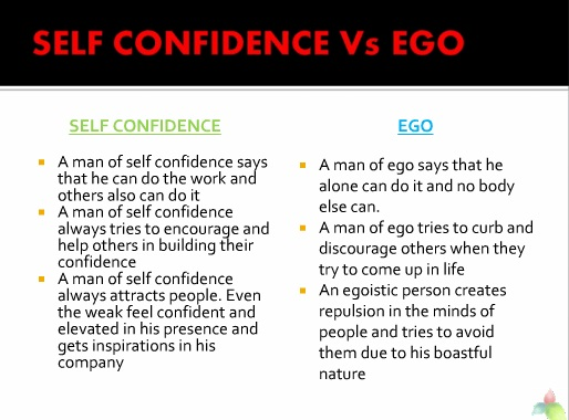 Self cofidence Vs Ego
