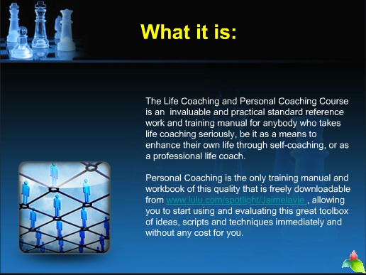 GUIDE FOR PERSONAL LIFE COACHING  FREE MANUAL