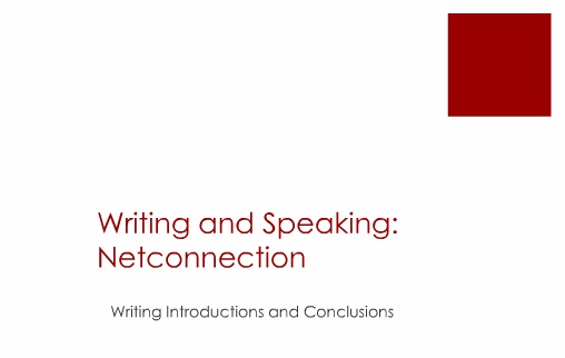 Writing Lessons Introductions and Conclusions