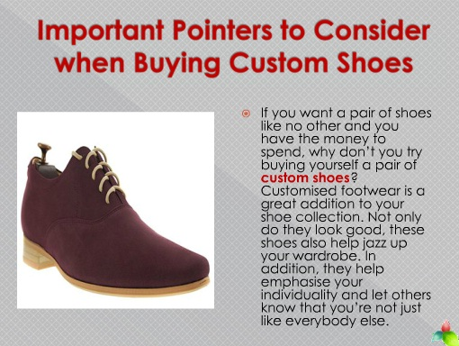 Important Pointers to Consider when Buying Custom Shoes | custom shoes