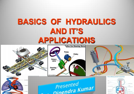 BASICS  OF  HYDRAULICSAND IT'SAPPLICATIONS