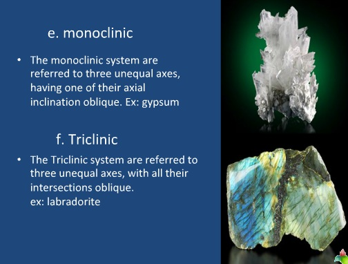 identification of minerals