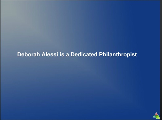Deborah Alessi is a Dedicated Philanthropist 