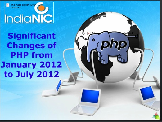 Significant Changes of PHP from January 2012 to July 2012