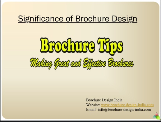 Significance of Brochure Design