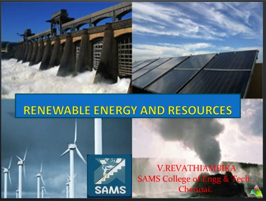 RENEWABLE ENERGY AND RESOURCES