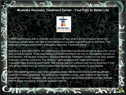 Muskoka Recovery Treatment Center - Your Path to Better Life 