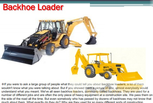 Backhoe Loader_presentation