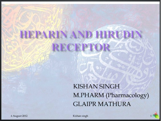 heparin and hirudin receptor