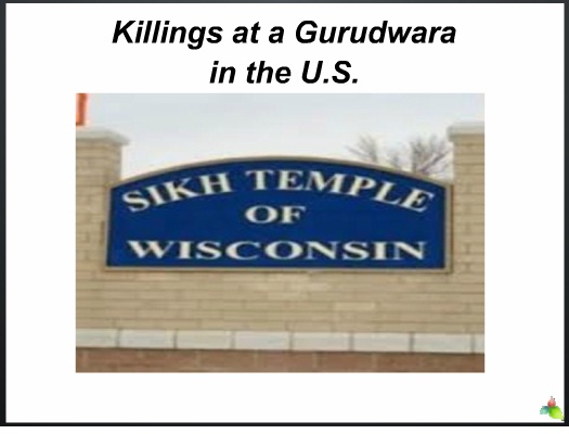 US Gurudwara Killing PPT