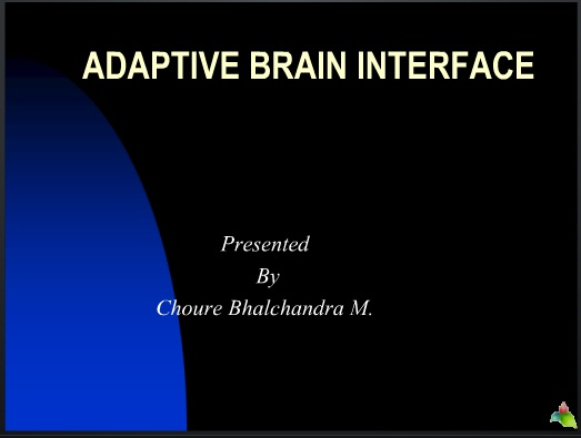 adaptive brain interface