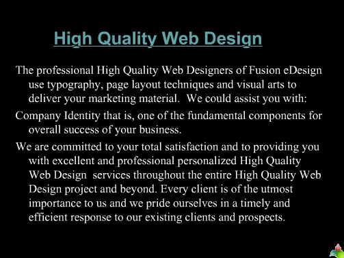 High Quality Web Design