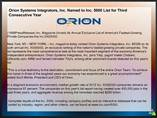 Orion Systems Integrators, Inc. Named to Inc. 5000 List for Third Consecutive Year