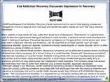 End Addiction Recovery Discusses Depression In Recovery 
