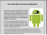 How to be safe with Android Applications