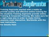 Data Warehousing Online Training and Placement Support on all modules at Training Aspirants