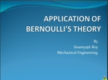 application of bernoullis thorem