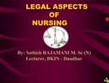 Legal Aspects in Nursing