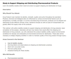 Stability studies to support shipping and distribution of drug products