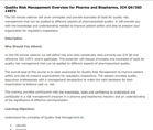 Quality risk management improve patient safety and regulatory inspections