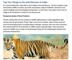 Top Ten Things to Do and Discover in India