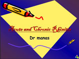 Acute and Chronic rhinitis ppt by Dr Manas