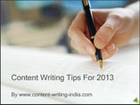 CONTENT WRITING TIPS FOR 2013