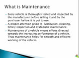 VEHICLE MAINTANANCE BASIC